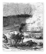 Railroad Accident, 1853 Fleece Blanket