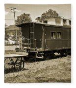 Railroad Car And Wagon Fleece Blanket