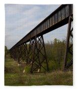Railroad High Bridge 3 Fleece Blanket