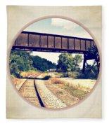 Railroad Tracks And Trestle Fleece Blanket