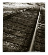 Railroad Tracks Fleece Blanket
