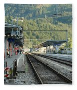 Railway Station West Interlaken Switzerland Fleece Blanket