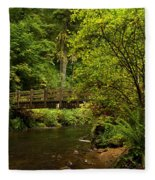 Rain Forest Bridge Fleece Blanket
