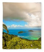 Rain In The Tropics Fleece Blanket