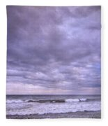 Rain Storm At The Sea Fleece Blanket