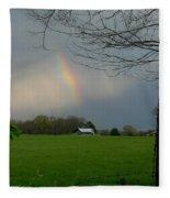 Rainbow After The Rain Fleece Blanket