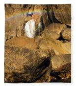 Rainbow At Bridal Veil Fleece Blanket