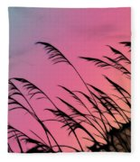 Rainbow Batik Sea Grass Gradient Silhouette Fleece Blanket