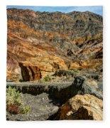 Rainbow Canyon Death Valley Fleece Blanket