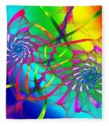 Rainbow Eyes Fleece Blanket