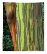 Rainbow Gum Tree Hawaii Fleece Blanket