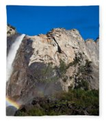 Rainbow On Bridalveil Fall Fleece Blanket