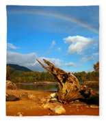 Rainbow Over Affric Fleece Blanket