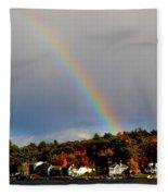 Rainbow Over Winnepesaukee Fleece Blanket