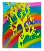 Rainbow Roots Fleece Blanket