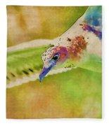Rainbow Seagull Fleece Blanket