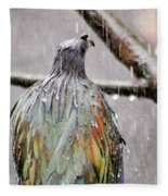 Rainbow Showers Fleece Blanket