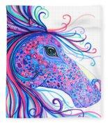 Rainbow Spotted Horse Fleece Blanket