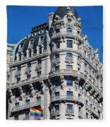 Rainbows And Architecture Fleece Blanket