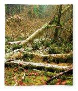 Rainforest Dusting Fleece Blanket