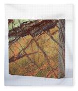 Rainforest Green Marble Fleece Blanket