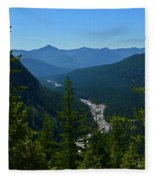 Rainier Valley Fleece Blanket