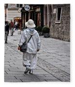 Rainwear In Salzburg Fleece Blanket