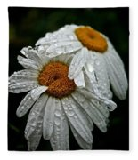 Rainy Day Daisies Fleece Blanket