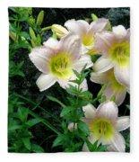 Rainy Day Day Lilies Fleece Blanket