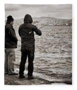 Rainy Day Fishing Fleece Blanket