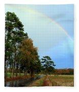 Rainy Day Rainbow Fleece Blanket