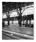 Rainy Departure Fleece Blanket