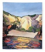 Ramsey Island - Land And Sea No 2 Fleece Blanket
