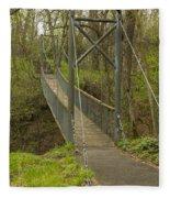 Ramsey Swing Bridge 2 Fleece Blanket