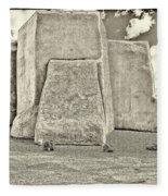 Ranchos Church Old Photo Fleece Blanket