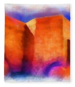 Ranchos Nave - Watercolor Fleece Blanket