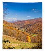 Randolph County West Virginia Fleece Blanket