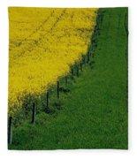 Rapeseed Growing In A Field, Ireland Fleece Blanket