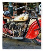 Rare Indian Motorcycle Fleece Blanket