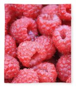 Raspberries Fleece Blanket