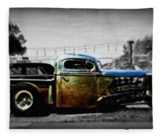 Rat Rod Profile Fleece Blanket