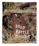 Rattlesnake Warning Fleece Blanket
