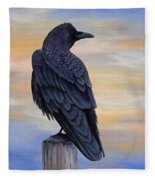 Raven Beauty Fleece Blanket