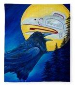 Raven Spirit Fleece Blanket