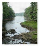 Receding Tide In Maine Part Of A Series Fleece Blanket