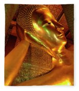 Reclining Buddha 2 Fleece Blanket