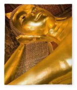 Reclining Buddha At Wat Pho, Low Angle Fleece Blanket