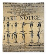 Recruiting Broadside, C1798 Fleece Blanket