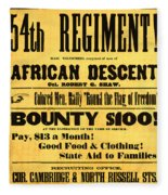 Recruiting Poster, 1863 Fleece Blanket