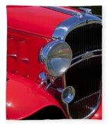 Red 1932 Oldsmobile Fleece Blanket